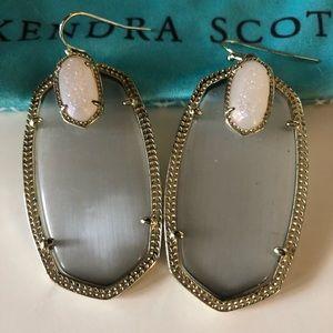 Kendra Scott Darcy earrings gold grey
